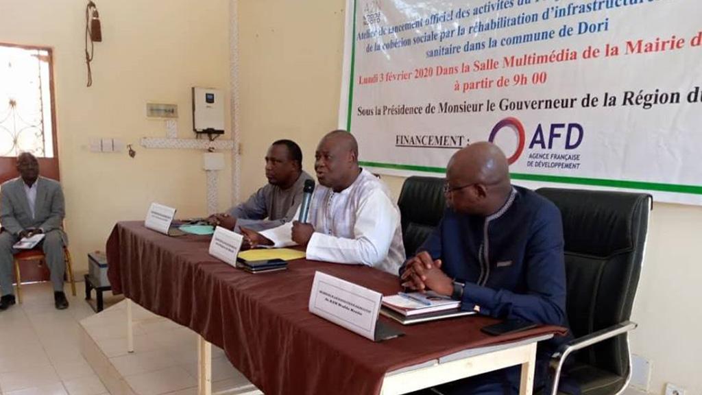 Lancement du Projet d'urgence de renforcement de la cohésion sociale par la réhabilitation des infrastructures sanitaires  et scolaires dans la commune de Dori